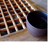 だご汁屋西原の美味しいお茶と南阿蘇のおいしい空気でホッと一息